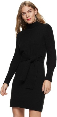 Nine West Women's Turtleneck Sweater Dress