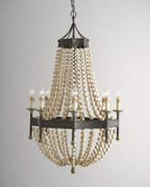 Regina-Andrew Design Regina Andrew Design Wood Bead 8-Light Chandelier