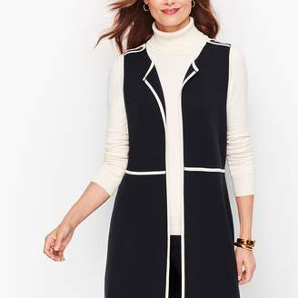 Talbots Milano Knit Tipped Vest