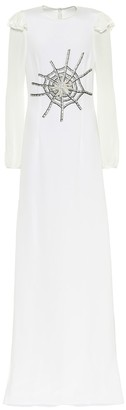 Rodarte Embellished silk gown