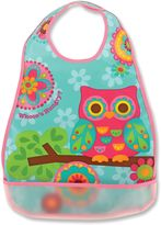Stephen Joseph Owl Wipeable Bib in Pink
