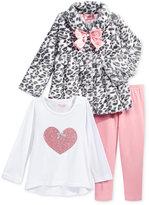Nannette 3-Pc. Faux-Fur Jacket, Top & Leggings Set, Baby Girls (0-24 months)