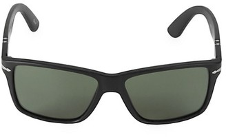 Persol 58MM Matte Rectangular Sunglasses