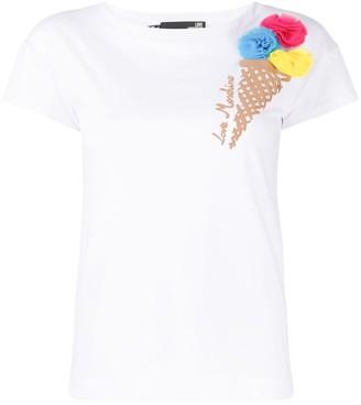 Love Moschino Ice-Cream embroidered T-shirt