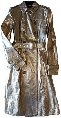 Burberry Gold Patent leather Trench Coat for Women