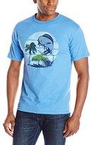 Izod Men's Short Sleeve Marlin Splash Graphic Tee