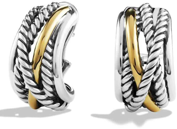 David Yurman 'Crossover' Earrings with Gold