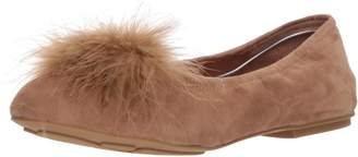 Gentle Souls by Kenneth Cole Women's Portia Pom Pom Ballet Flat with Feather Pom Shoe