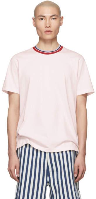 Marni Pink Striped Collar T-Shirt