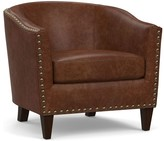 Pottery Barn Harlow Leather Armchair