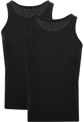 BOSS Double Pack Vest T Shirts Black