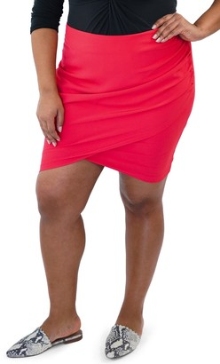 Maree Pour Toi Ruched High/Low Skirt (Plus Size)