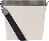 Jaeger Leather / Canvas Bucket Bag, Ivory