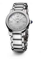 David Yurman Classic 30mm Stainless Steel Quartz with Diamond Markers