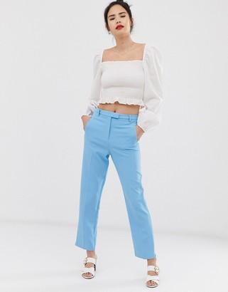 Miss Selfridge cigarette trousers in blue