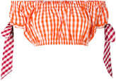House of Holland gingham crop top - women - Polyester/Cotton - 6
