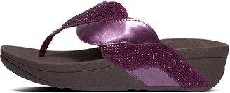 FitFlop Paisley Glitter Rope Toe-Post Sandals