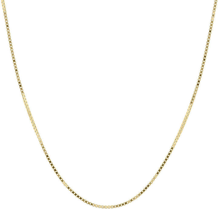 JCPenney FINE JEWELRY Infinite Gold 14K Yellow Gold 18 Box Chain Necklace