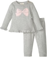 Kate Spade Sweater Knit Two-piece Set (Baby) - Heather Grey - 9 Months