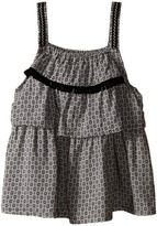 Ikks Printed Top with Adjustable Embroidered Straps (Little Kids/Big Kids)