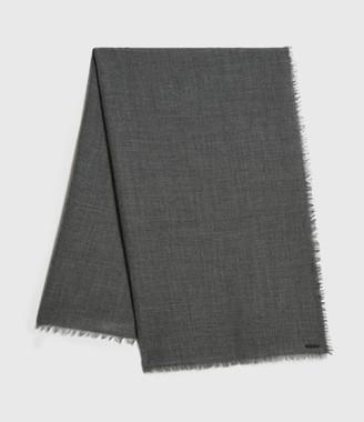 AllSaints Solid Twill Wool Scarf