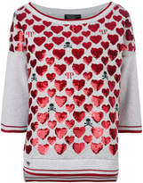 Philipp Plein sequin heart top