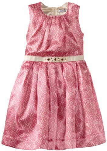 Hartstrings 2-6X Little Medallion Lace Print Charmeuse Dress