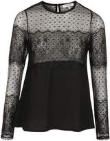 Morgan Crepe And Lace Top