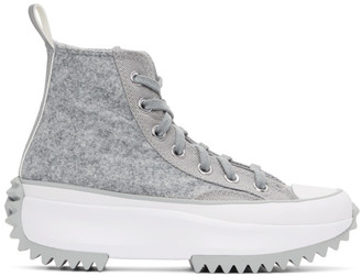 Converse Grey Run Star Hike High-Top Sneakers