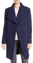 Ellen Tracy Women's Oversize Collar Boucle Coat