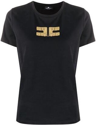 Elisabetta Franchi chain logo cotton T-shirt