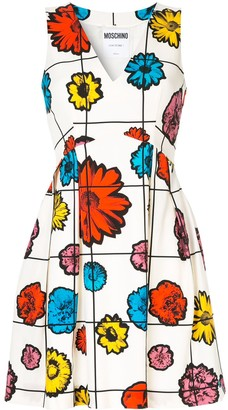 Moschino Floral Grid Print Mini Dress