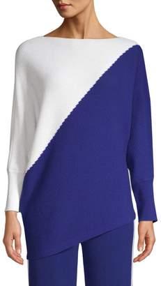 TSE X Sfa Ribbed Cashmere Colorblocked Sweater