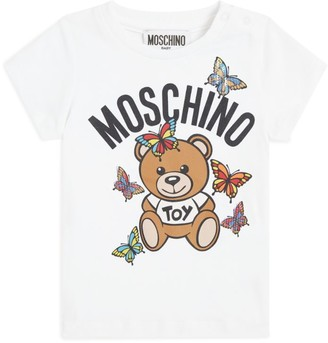 Moschino Kids Logo Bear Press-Stud T-Shirt
