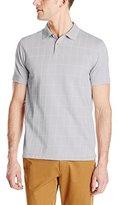 Van Heusen Men's Short-Sleeve Jacquard Windowpane Polo Shirt