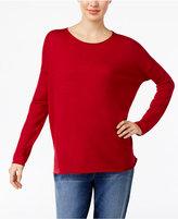 Eileen Fisher Crew-Neck Drop-Shoulder Sweater