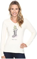 Life is Good Happy Trails Winter Boot Long Sleeve Crusher Vee