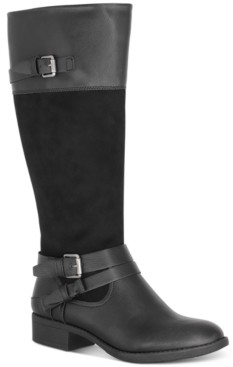Style&Co. Style & Co Ashliie Riding Boots, Created for Macy's Women's Shoes