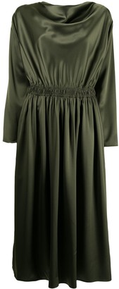 Adam Lippes Cowl Neck Charmeuse Dress
