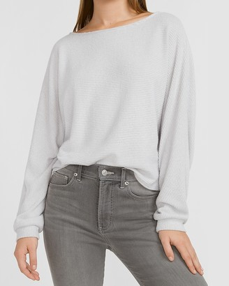 Express Soft Ribbed Bateau Neck Tee