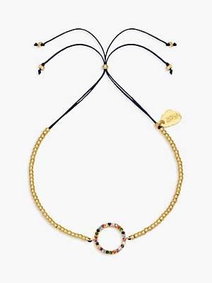 Estella Bartlett Beaded Rainbow Circle Bracelet, Gold