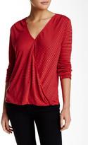 Velvet by Graham & Spencer V-Neck Linen Blend Stripe Knit Tee
