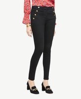 Ann Taylor Sailor All Day Skinny Jeans In Jet Black Wash
