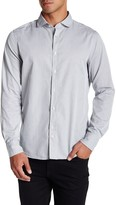 J. Lindeberg Long Sleeve Trim Fit Washed Dobby Shirt