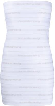 Alexander Wang logo banded silk dress