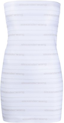 Alexander Wang Logo Banded Silk Dress