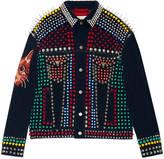 Gucci Studded leather corduroy jacket