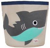 3 Sprouts Canvas Extra Large Round Storage Bin - Shark