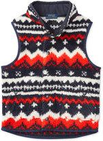 Ralph Lauren Geo-Pattern Sweater Vest, Little Boys (2-7)
