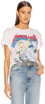 MadeWorn Metallica And Justice For All '89 Crew Tee in Off White | FWRD